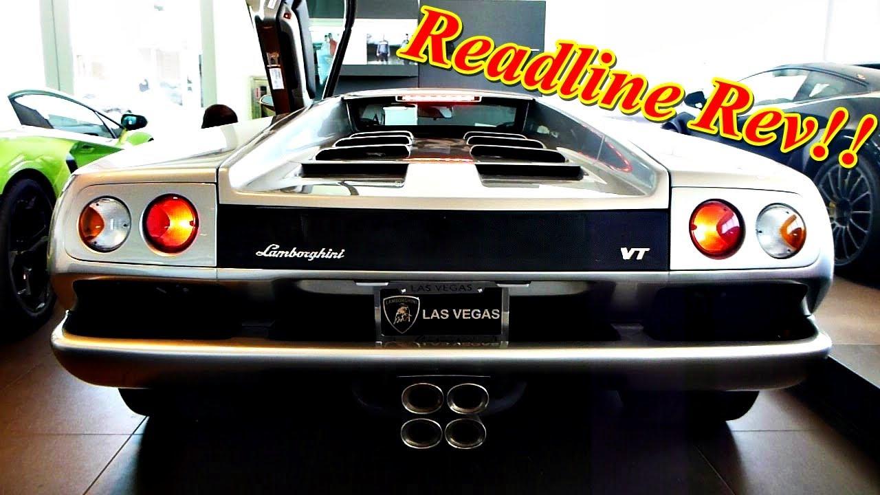 Lamborghini Diablo Vt Loud Redline Engine Rev Engine