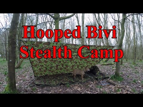 Wiltshire man Stealth Hooped Bivi Wildcamp March 2017