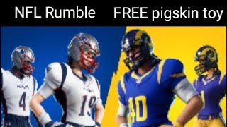 Fortnite live, NFL Event , FREE pigskin toy ,New cheer up emote