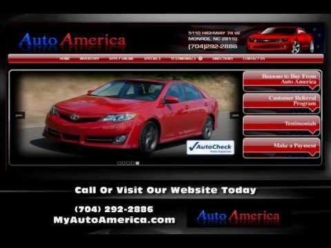 used car dealership in monroe nc auto america youtube. Black Bedroom Furniture Sets. Home Design Ideas