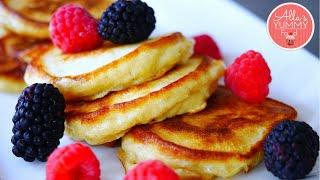 Buttermilk Pancakes | Apple Pancake Recipe | Оладьи с яблоками