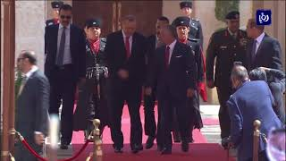 جلالة الملك يستقبل أردوغان في قصر الحسينية - (21-8-2017)