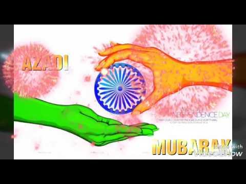 AZADI MUBARAK TO INDIA / GIF💙💚