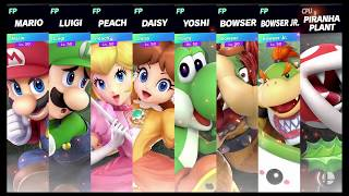 Super Smash Bros Ultimate Amiibo Fights   Request #1323 Super Mario Free for all