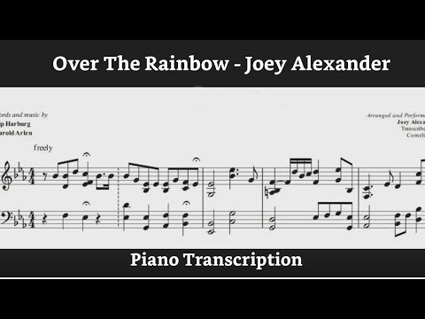 Joey Alexander - Over the Rainbow (Piano transcription)