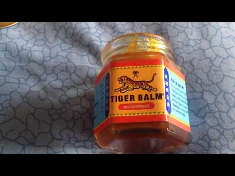 Tiger balm the cream for the men purchased in Thailand