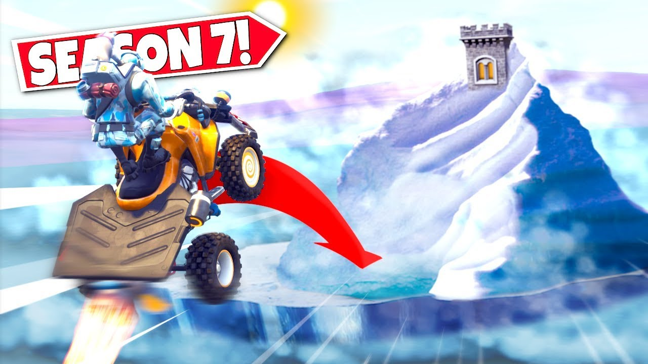 Season 7 Landing On The Massive Iceberg In Fortnite Season 7 Br