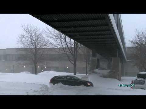 [HD] Record-Breaking Snowstorm, Dec 27, 2012, Longueuil, Quebec, Ca