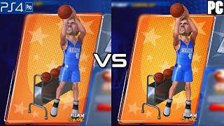 NBA 2K Playgrounds 2 Comparison (PC vs PS4 Pro)