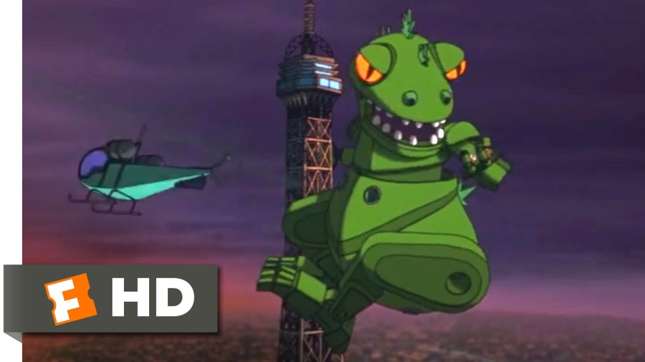 Rugrats in Paris (2000) - Reptar Paris Chase Scene (9/10) | Movieclips