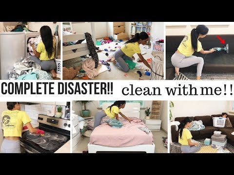 COMPLETE DISASTER!! // CLEAN WITH ME // CLEANING MOTIVATION // Jessica Tull cleaning