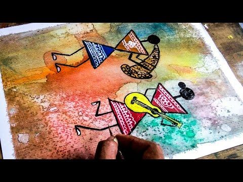 Folk Art || Creative Acrylic  painting ||Very Simple techniques ||Step By Step