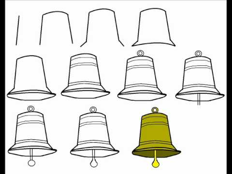 How To Draw A Cartoon Bell Step By Step Drawing Tutorial