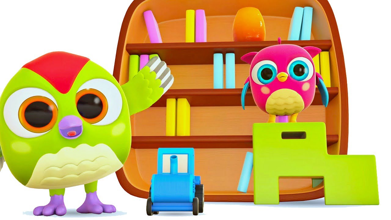 Nursery rhymes & songs for kids. Sing with @Hop Hop the Owl Learn opposites with High & Low song