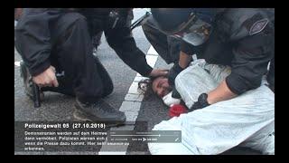 Szenen von Polizeigewalt im und am Hambacher Wald