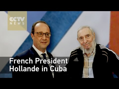French President calls for an end to the Cuba embargo