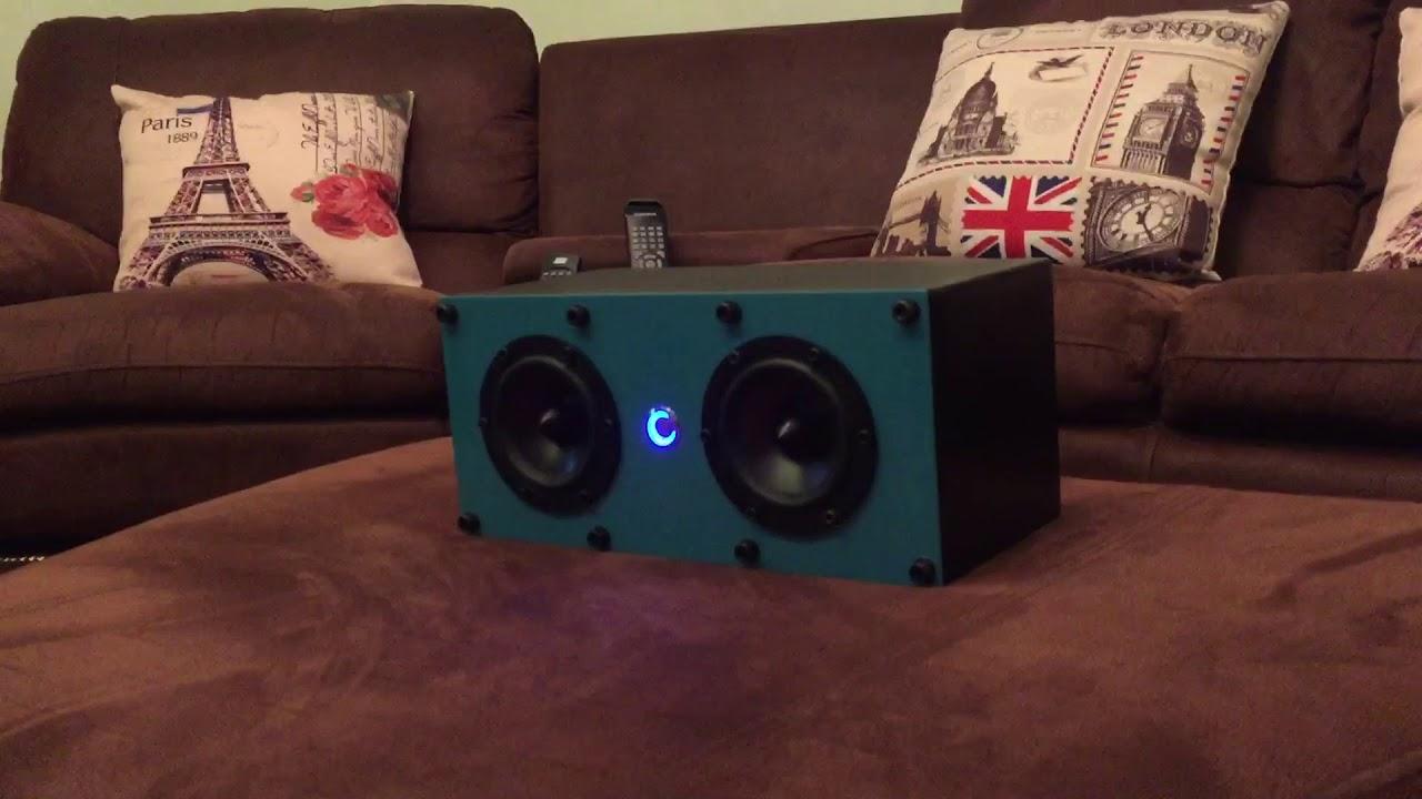 Diy bluetooth speaker using Dayton Audio RS100-8 - смотреть