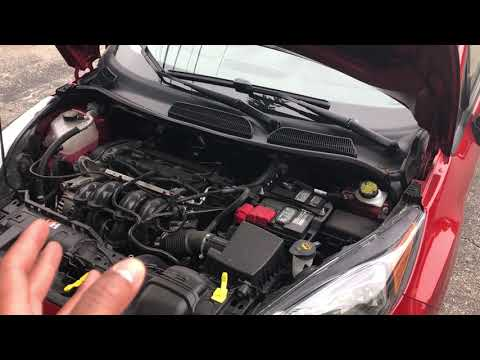 FORD FIESTA- Location of where to add brake fluid