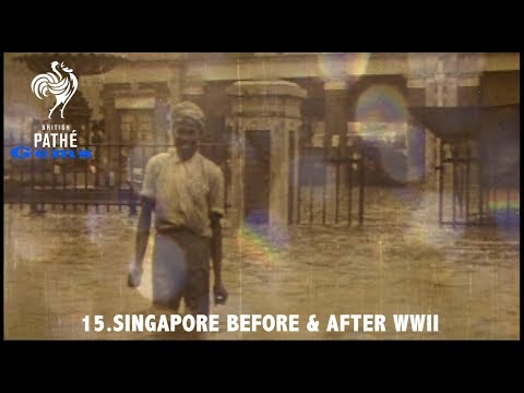 Singapore Before & After WWII | British Pathé Gems Nº15