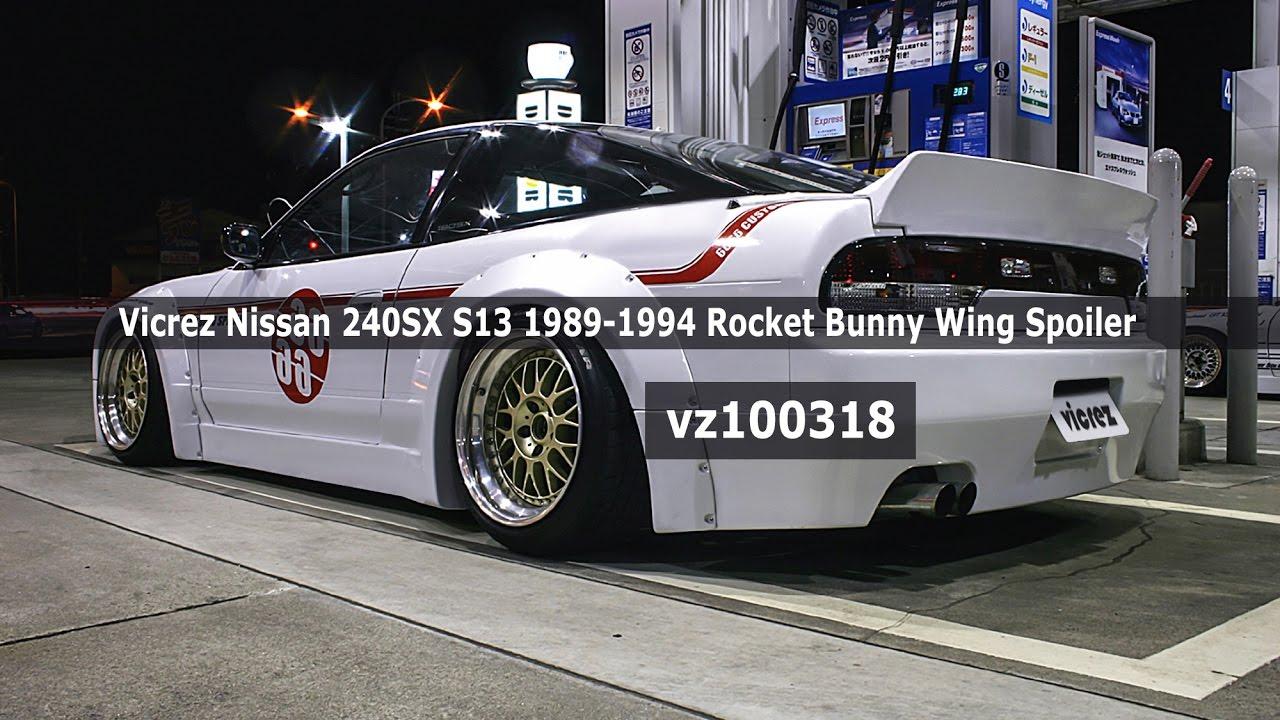 Vicrez Nissan 240sx S13 1989 1994 Rocket Bunny Wing Spoiler Vz100318