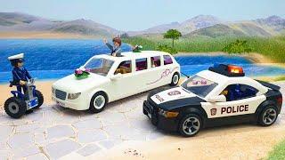 Мультики про машинки для детей с игрушками Плеймобил - Невинный воришка! Полицейская машинка Пикап.