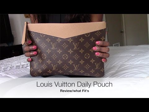 d04917a1d2f Louis Vuitton Daily Pouch Review/What Fit's - YouTube
