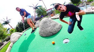 MINI GOLF FACE OFF ROUND 7! | Husband vs. Wife *HOLE IN ONE*