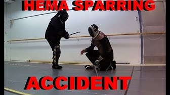 HEMA sparring and injury Oulu Finland | Oulun miekkailuseura
