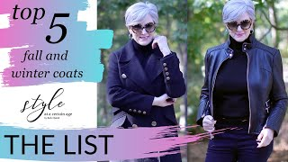 the list | top 5 must have coats and jackets for fall and winter | style over 50 (repost)