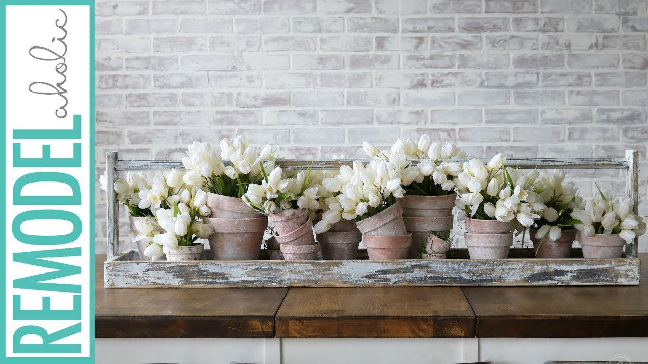 Build A Rustic Table Runner Tray For An Easy Seasonal Centerpiece
