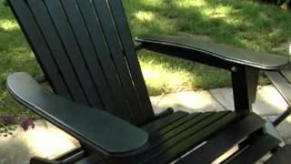 Grand Daddy Oversized Adirondack Chair With Pull Out Ottoman Black - Product Review Video