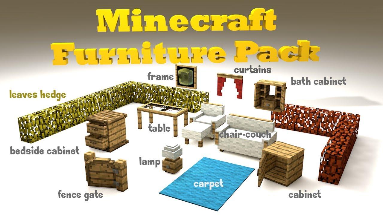 Minecraft Furniture Pack Cinema 4d Original Hd Youtube