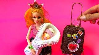 7 DIY MINIATURE BARBIE DOLLHOUSE ACCESSORIES & Lifehacks  DIY Miniature Baby for Barbie