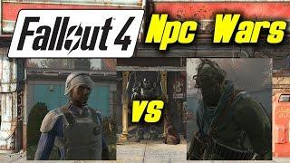 Fallout 4 Giant NPC War - Vault Security vs Super Mutants