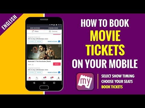 How to Book Movie Tickets Online in India | Book My Show Android App Full tutorial in English