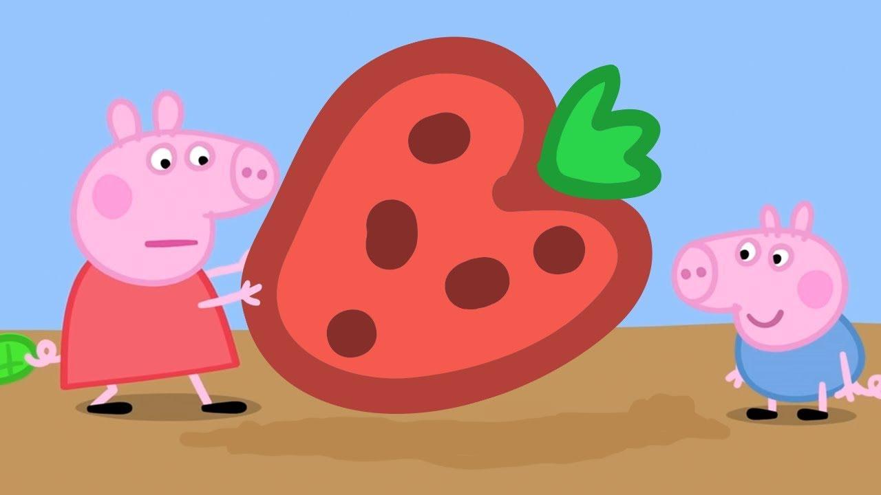 Peppa Pig świnka Peppa Po Polsku Peppa I Ogromna Truskawka Bajki Po Polsku