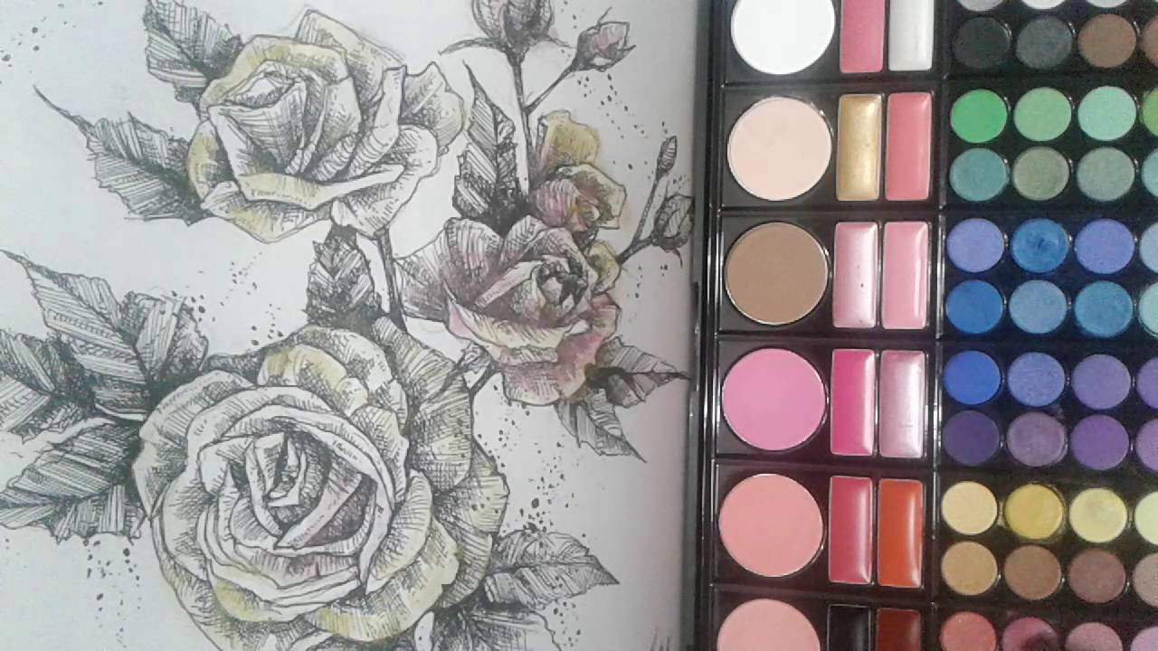 How To Color Using Eyeshadow On Coloring Books Coloring Books Grayscale Coloring Color