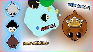MOPE.IO NEW ANIMAL WOLVERINE + NEW ABILITIES + NEW ICE-SLIDING AREAS!! (Mope.io)