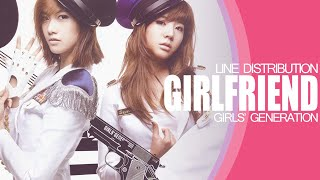 Girlfriend - Girls' Generation (Line Distribution)