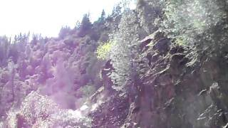Landslide on Rock Creek Road El Dorado County California Rockslide