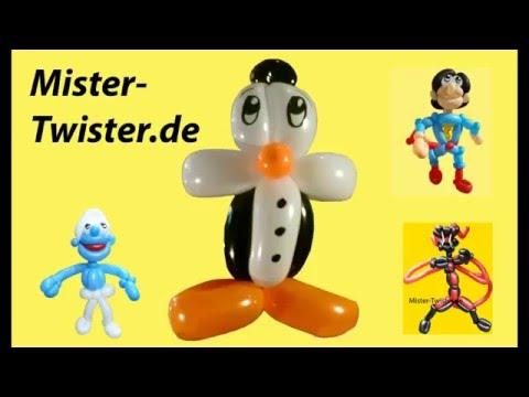 Ballon Pinguin, balloon penguin, Modellierballon Ballonfiguren Animnals Tiere