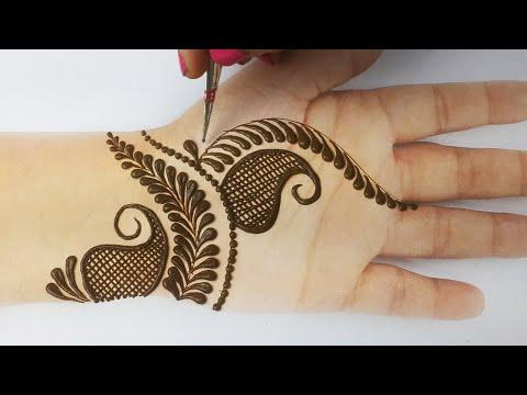 Amazing Arabic Henna Mehndi Design for Front Hands- Simple New Henna Mehndi - आसान मेहँदी लगाना सीखे