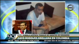 Ollanta Humala destacó el trabajo de Policía Nacional tras la captura de Rodolfo Orellana