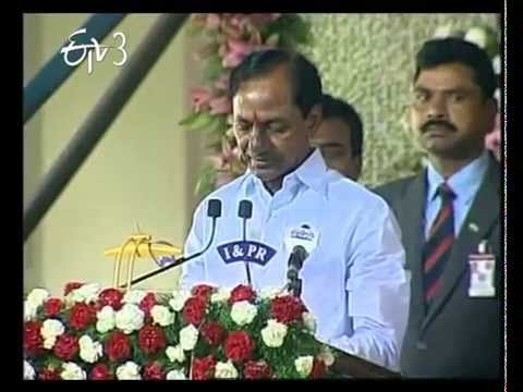 KCR Swears in as First Chief Minister of Telangana