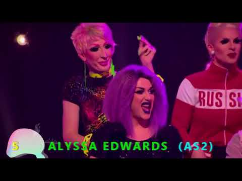 TOP 10 VARIATY SHOWS & TALENT SHOW (RUPAUL'S DRAG RACE AS2 & AS3)