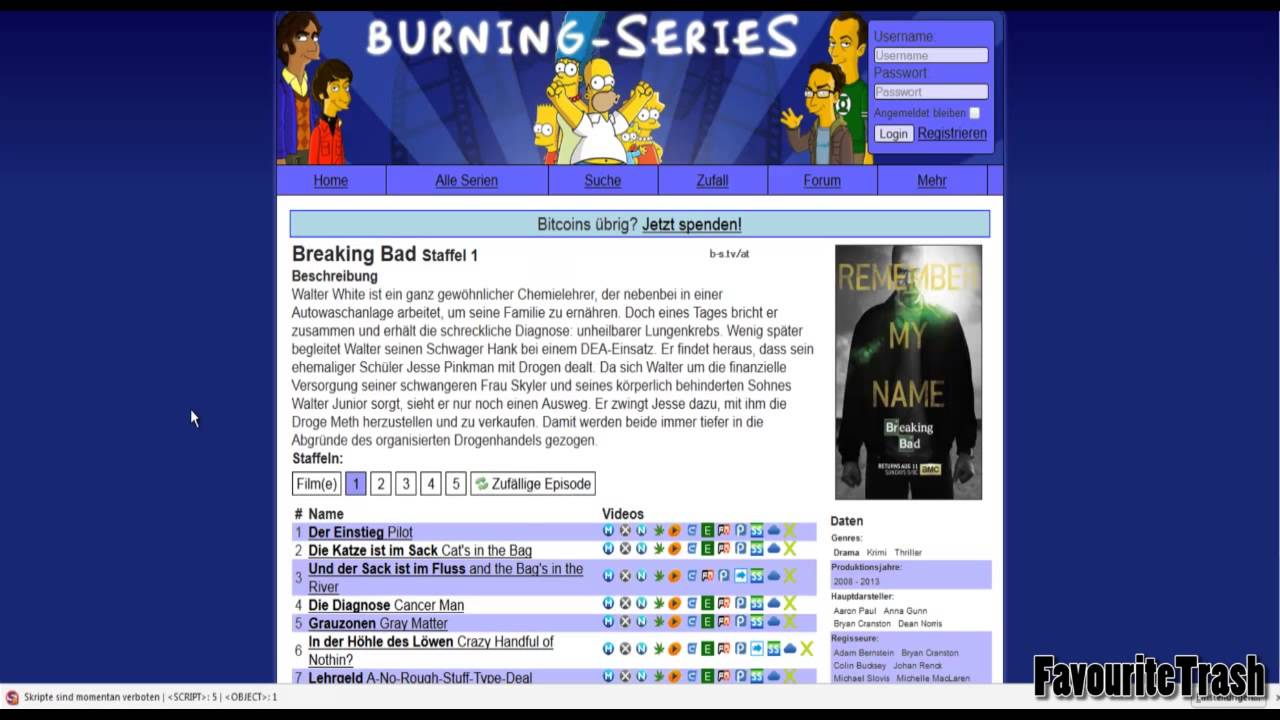 burning serien
