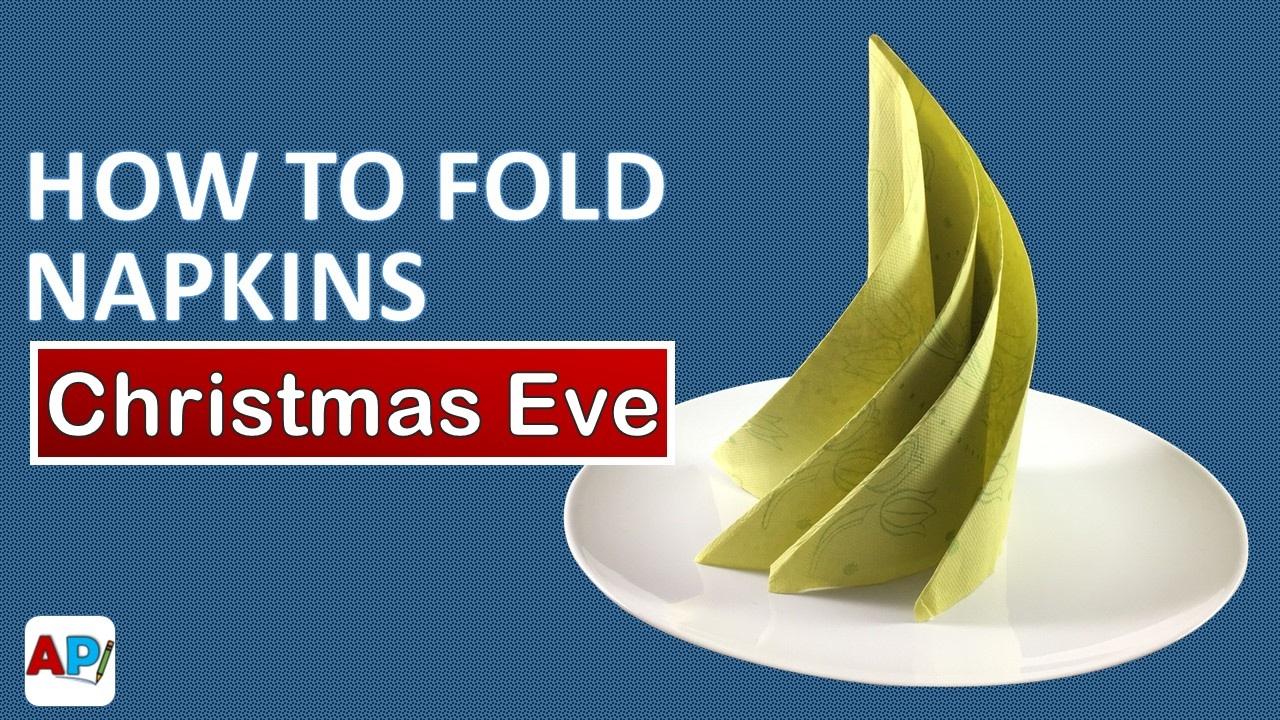 how to fold a paper napkin christmas eve napkin folding youtube. Black Bedroom Furniture Sets. Home Design Ideas