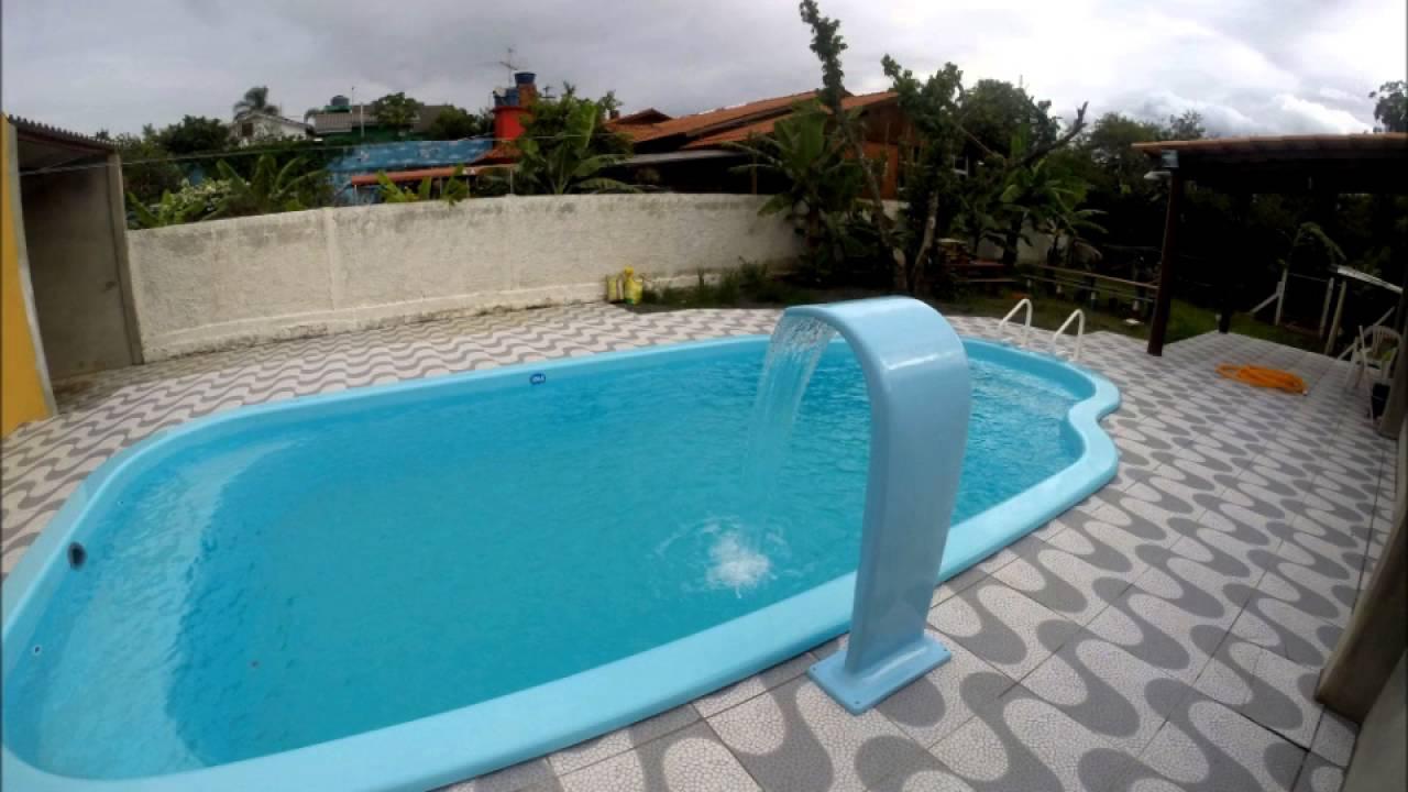 Cascata para piscina Garcia Fibras  YouTube