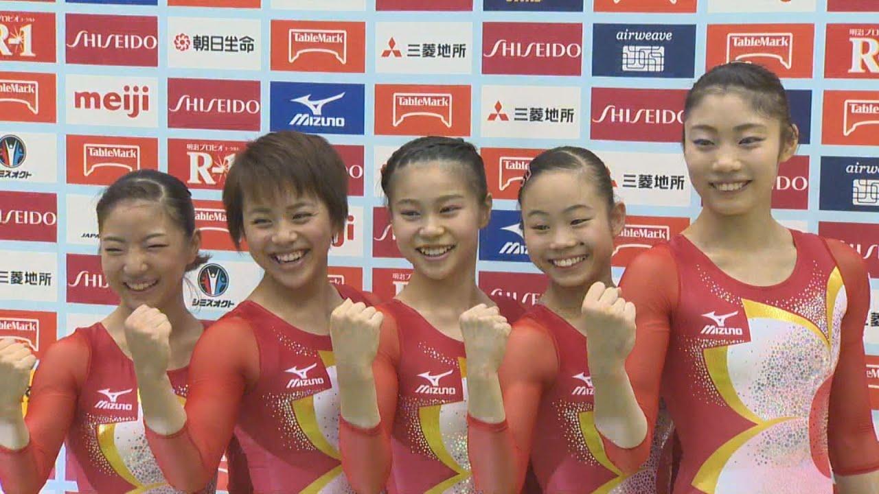 女子体操 寺本、村上らリオ五輪代表 団体メダル目指す体操女子