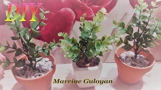 Горшочек с зеленью для рабочего стола + на подарок как сувенир✔ Marine DIY Guloyan✔